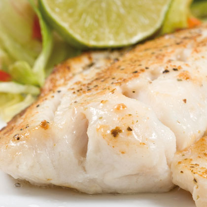 Oven-grilled, vegetable pangasius